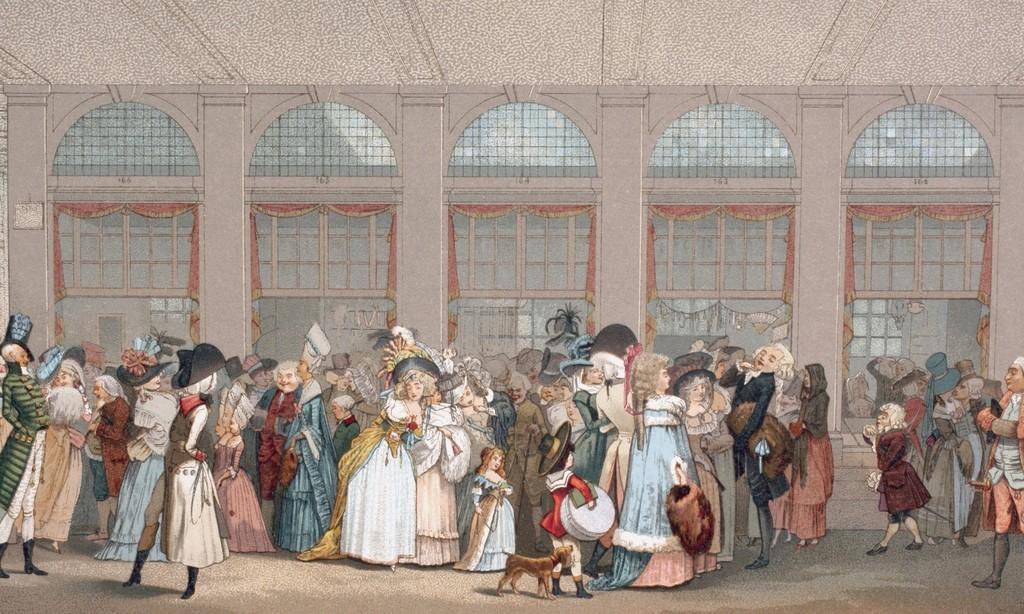 Galeries de bois du Palais-Royal vers 1786 (Musée Carnavalet)