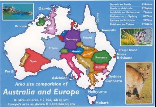 Europe vs Australie - www.peterlikaustralia.com.au