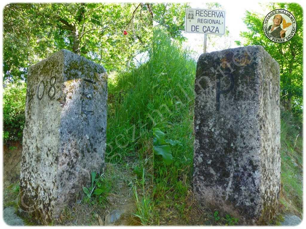 Bornes frontières Espagne Portugal Rio de Onor