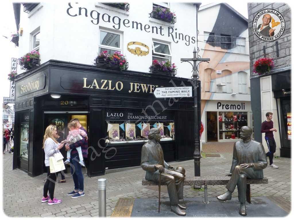 Rue commerçante à Galway