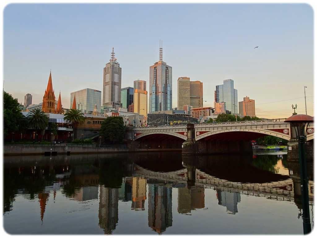 Melbourne vu de South Bank