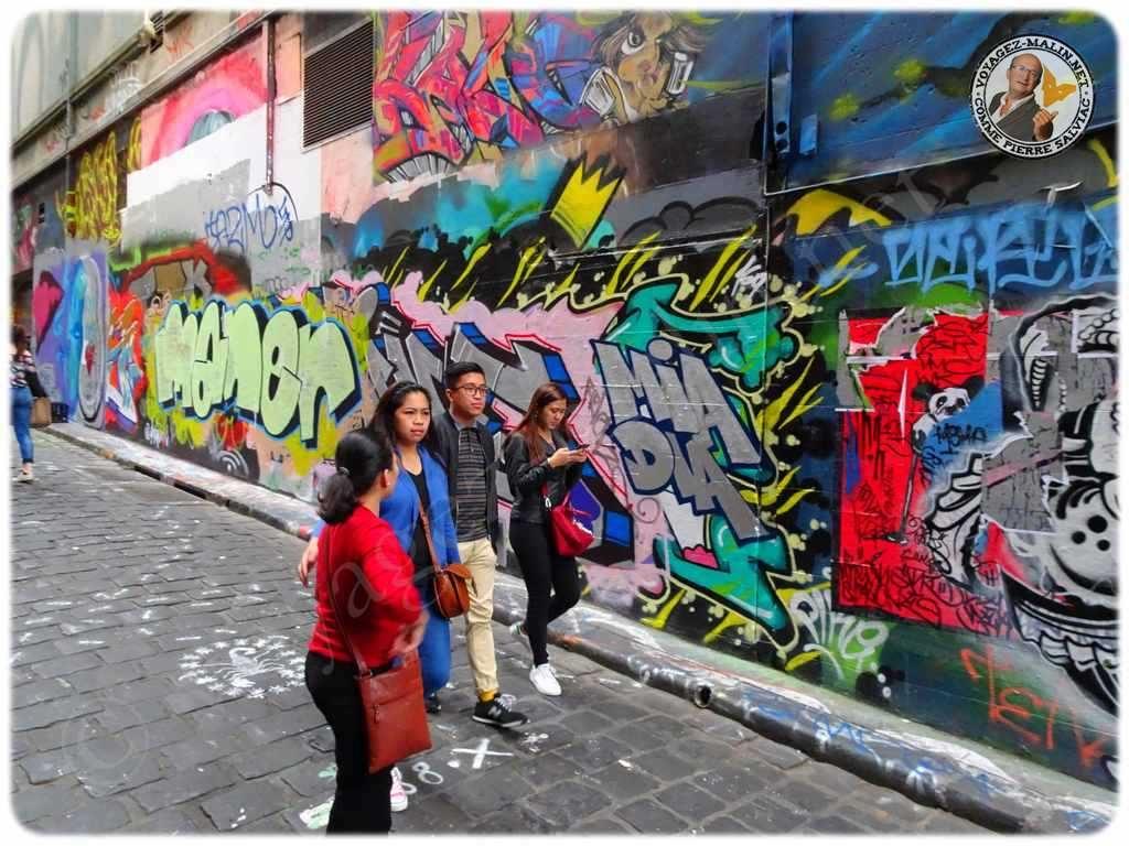 Une rue des tags a Melbourne